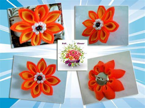 tutorial bunga kanzashi dari flanel neng s blog tutorial felt kanzashi brooch bros bunga