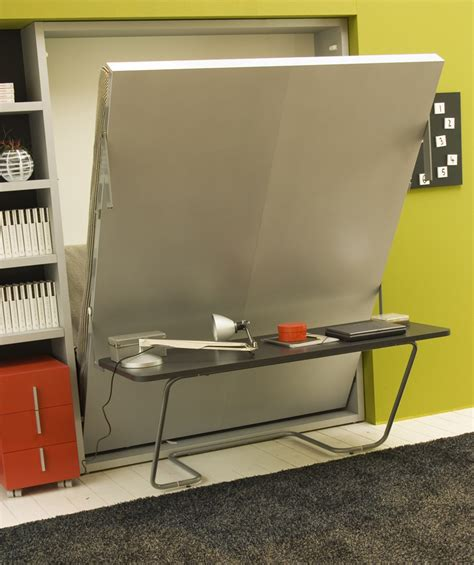 office bed ulisse study wall bed system with office desk clei london uk