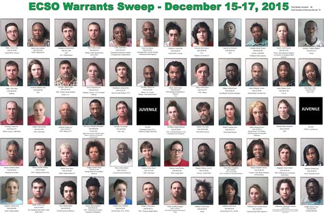 Warrant Search Tennessee 60 Arrested Including Two Murder Suspects In Ecso Warrants Sweep Northescambia