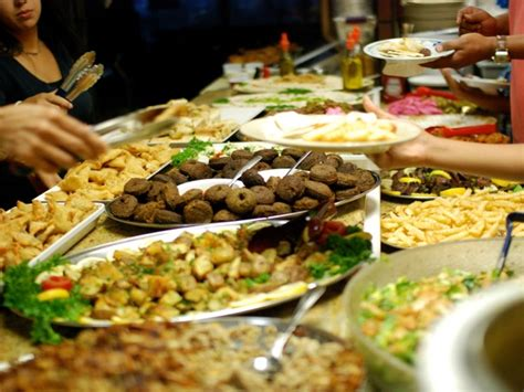we eat everything at the ramadan buffet at olive tree in