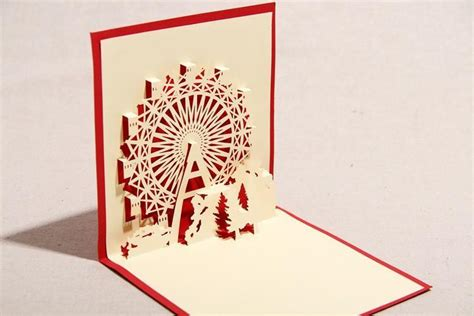 Handmade Greeting Card Business - 10pcs set diy sky ferris wheel monuments business 3d