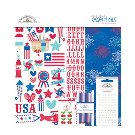 essentials kit layout doodlebug design stars and stripes collection