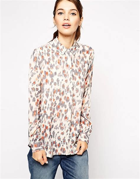 Animal Print Blouse by Asos Asos Animal Print Blouse