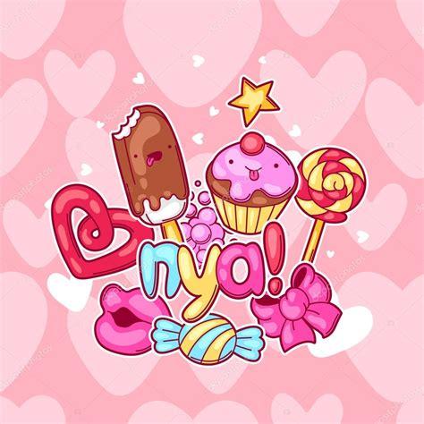imagenes de emoticones kawaii fondo de kawaii con dulces y caramelos dulce locura cosas