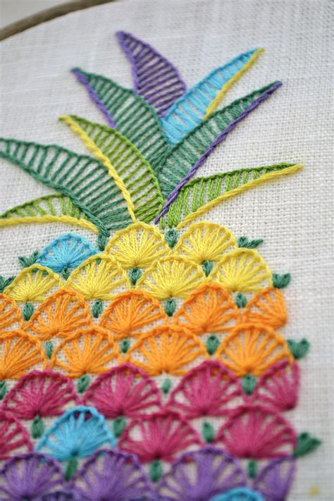 embroidery design ideas embroidery pattern pdf instant download pineapple