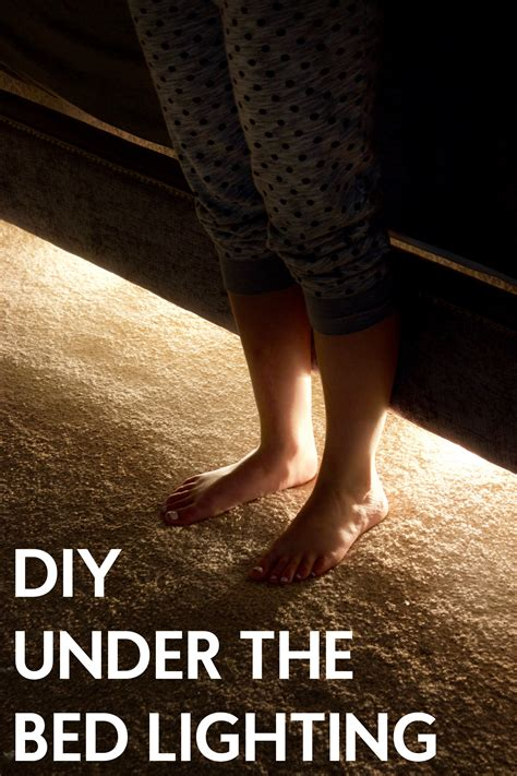 under bed lighting diy under the bed lighting a little craft in your daya