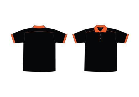 polo t shirt pattern vector black polo shirt template clipart best