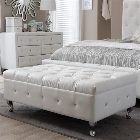 Button Upholstery Brighton by Home Decorators Collection Hamilton Polar White Bench 9200410400 The Home Depot