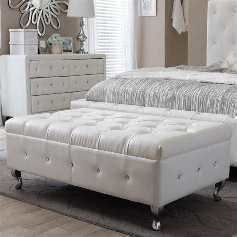 Button Upholstery Brighton home decorators collection hamilton polar white bench 9200410400 the home depot