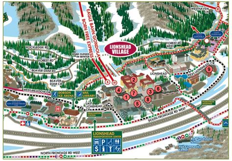 map of vail colorado vail town map pictures to pin on pinsdaddy