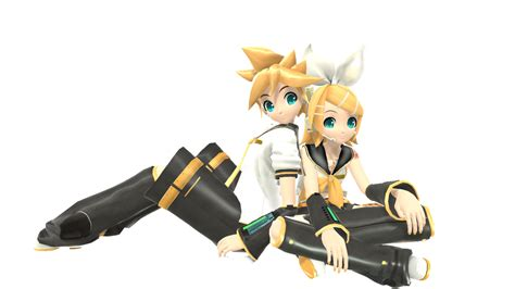 len 3d mmd rin and len kagamine by gero chan on deviantart