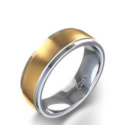 two toned mens wedding bands