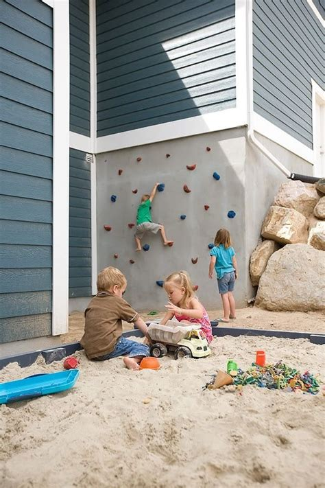 backyard climbing wall for kids outdoor play area for kids outdoor spaces pinterest