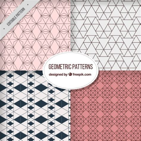 different patterns using geometric shapes geometric patterns with different shapes vector free