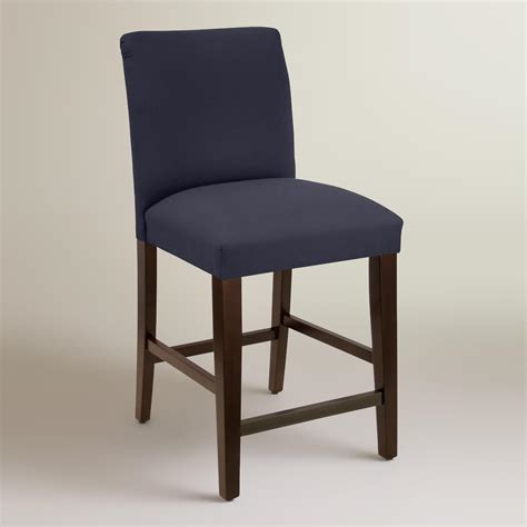 Upholstered Counter Stools Twill Kerri Upholstered Counter Stool World Market