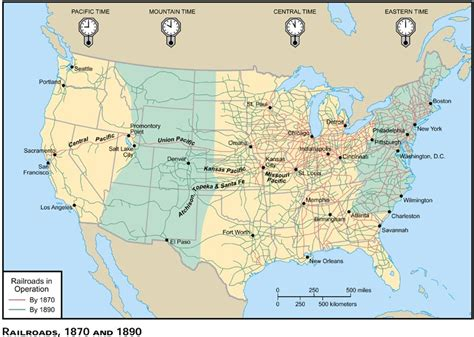 map us railroads 1870 bkushistory licensed for non commercial use only