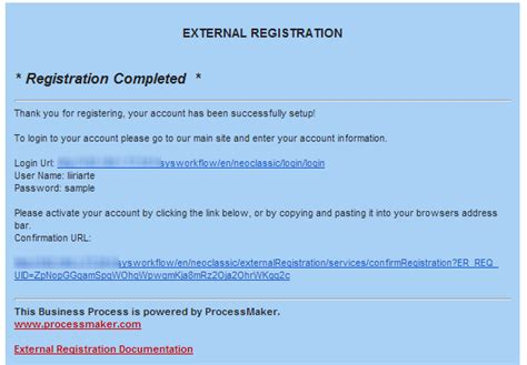 account activation email template 2 0 external registration documentation processmaker