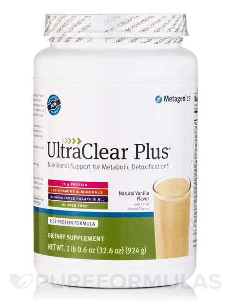 Metagenics Ultra Clear Detox Diet by Ultraclear Plus 174 Vanilla Flavor 32 6 Oz 924