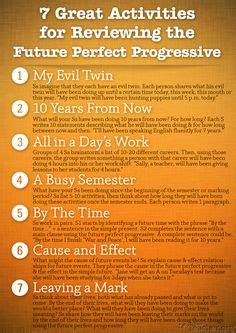 future perfect progressive pattern 1000 images about esl grammar on pinterest esl adverbs