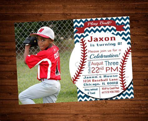 printable birthday baseball invitations 21 baseball birthday invitation templates free sle