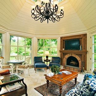 sunrooms  fireplaces houzz