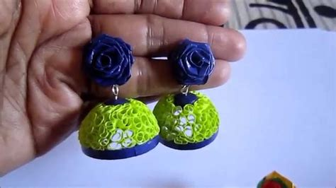 quilling jhumka tutorial video free form quilling paper quilling jhumka not tutorial