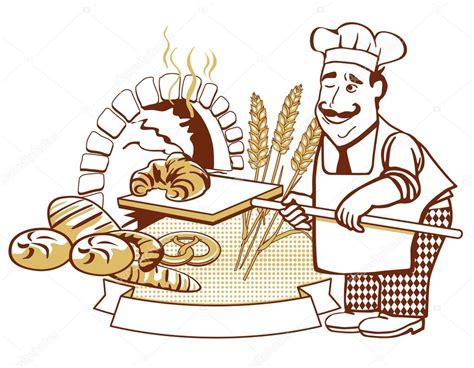 Oven The Baker baker en el horno vector de stock 169 scusi0 9 9093529