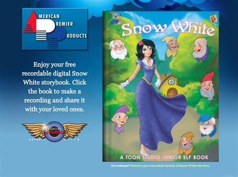 Bed Buddy Record Your Own Free Snow White Digital Storybook From The