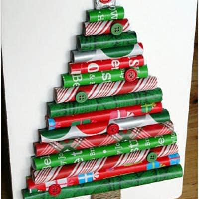 wrapping paper tree christmas crafts tip junkie
