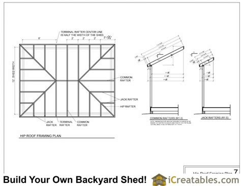 12x12 Hip Roof Plans Hip Roof Shed Plans Shed Designs With Hip Roofs