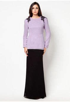 B Berry Hitam Dress baju kurung lace peplum and peplum on