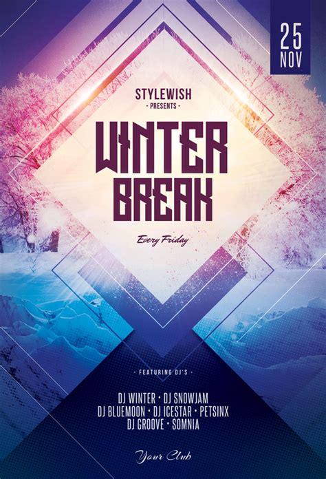design flyer pinterest winter break flyer template download psd file 9 flyer