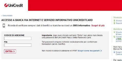 unicredit on line clienti unicredit it area clienti come accedere all area