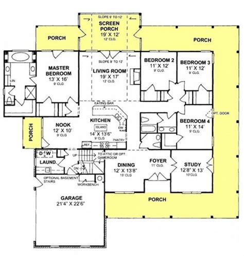 country floor plans with porches 655863 4 bedroom 2 5 country farmhouse with screened porch and all walk in closets house