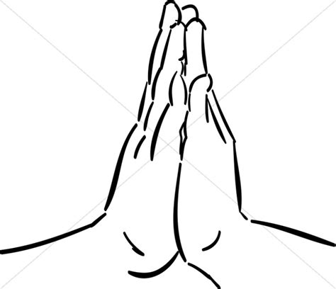 Praying hands silhouettes template hands together in prayer