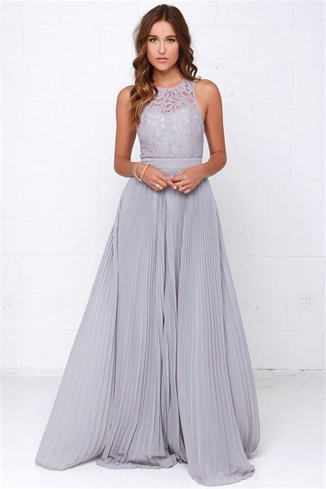 Grey Pleated 2pcs Dress say you will grey lace maxi dress grey maxi dresses and say you