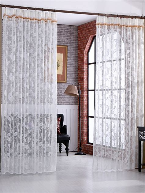 rattan curtains bath bed white rattan embroidery sheer fabric tulle