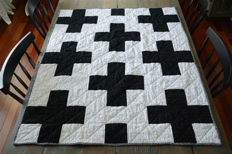 black and white cross quilt pattern black and white cross quilt decor and the dog