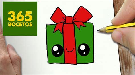 dibujos de navidad paso a paso como dibujar un regalo para navidad paso a paso dibujos kawaii navide 241 os how to draw a gift