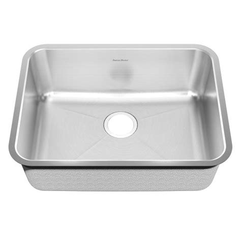 American Kitchen Sinks American Standard 14sb 251900 073 Prevoir 24 75 Inch Stainless Steel Undermount Single Bowl