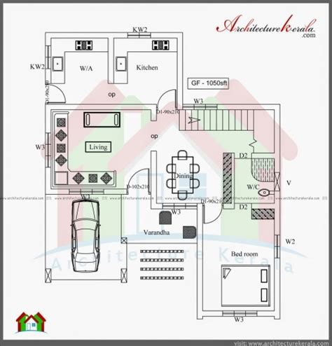 Plan For 4 Bedroom House In Kerala by 3 Bedroom Kerala House Plans House Floor Plans