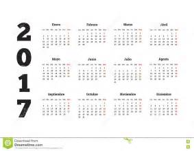 File name 2017 year calendar in spanish isolated on white stock 9