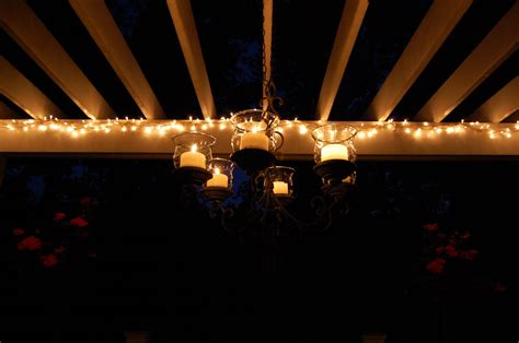 hanging lights on pergola your blue hour pictures