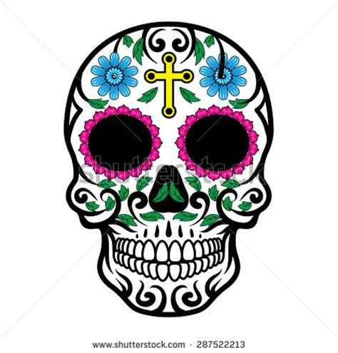 Candy Skull Stock Photos Images Pictures Shutterstock Day Of The Dead Skull Vector