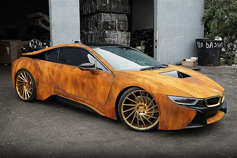 bmw i8 modified bmw i8 rust wrap custom by metrowrapz hiconsumption