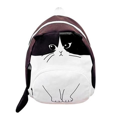 Lovely Cat Backpack By Anfashion lovely cat printed backpack