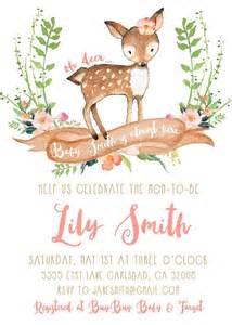 deer baby shower invitation woodland by kirrareynadesigns baby b deer baby