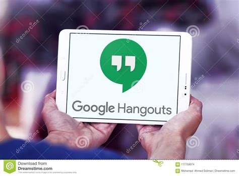 hangouts images hangouts logo editorial stock image image of