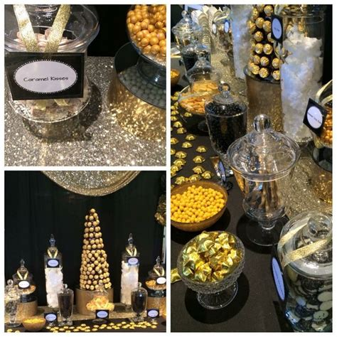 black and gold buffet ls black and gold candy buffet 50th pinterest candy