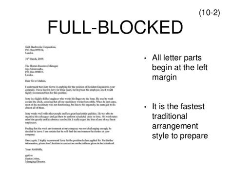 block style letter format with letterhead letter format le